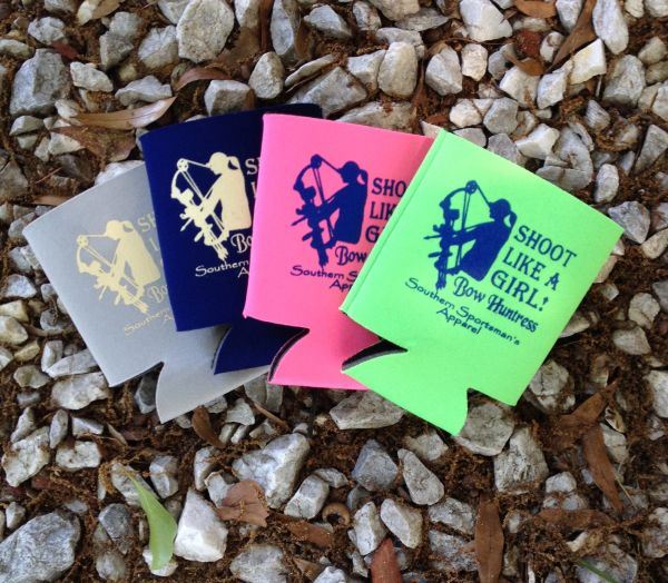 Shoot Like A Girl Koozie