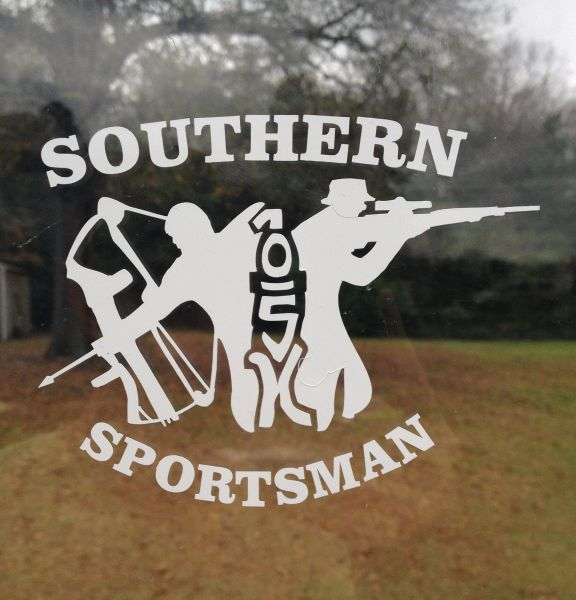 Soutern Sportsman One Shot Kill White decal #1 ( 5 x 4 )
