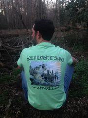 Bass Fishing Mint Short Sleeve T Shirt