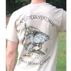 Fresh Water Crappie Light Sand Short Sleeve T Shirts