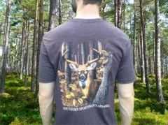 Woodlands Buck Heather Chocolate Short Sleeve T Shirt