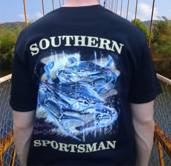 American Blue Crab Black Short Sleeve T-Shirt