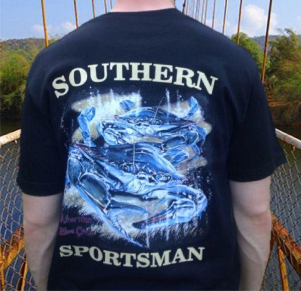 American Blue Crab Black Short Sleeve T-Shirt
