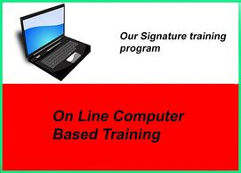 On line computer based training