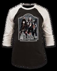 KISS Gitter '76 Black White Baseball Jersey T-shirt