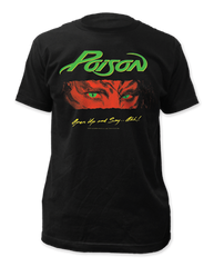 Poison Open Up and Say...Ahh Black Short Sleeve Adult T-shirt