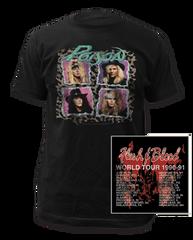 Poison Flesh & Blood Tour Black Short Sleeve Adult T-shirt