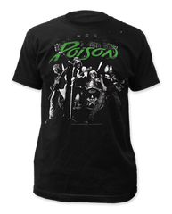 Poison Arena Rock Black Short Sleeve Adult T-shirt