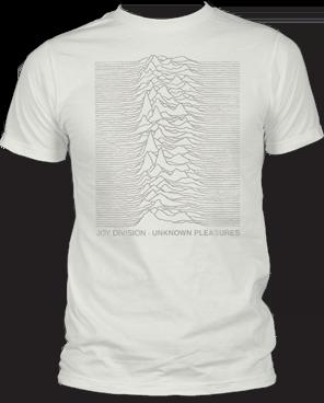 Joy Division Tone on Tone White Short Sleeve Adult T-shirt