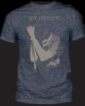Joy Division Ian Curtis Heather Navy Short Sleeve Adult T-shirt
