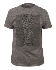 Joy Division Unknown Pleasures Heather Grey Short Sleeve Adult T-shirt