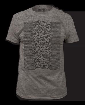 Joy Division Unknown Pleasures Heather Grey Short Sleeve Adult T-shirt
