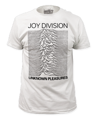 Joy Division Unknown Pleasures White Short Sleeve Adult T-shirt