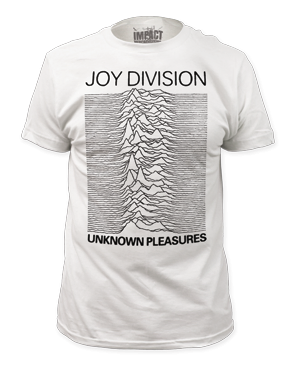 Joy Division Unknown Pleasures White Short Sleeve Adult T-shirt