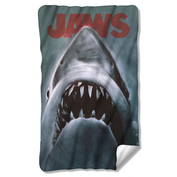 Jaws Shark Polyester Polar Fleece Blanket