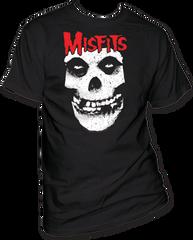 The Misfits Red Skull Logo Black Short Sleeve Adult T-shirt