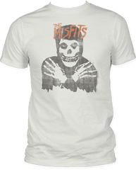 The Misfits Classic Skull Distressed White Short Sleeve Adult T-shirt