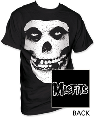 The Misfits Skull and Logo Black Short Sleeve Adult T-shirt
