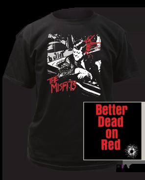 The Misfits Bullet Black Short Sleeve Adult T-shirt