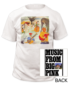 The Band The Big Pink White Cotton Short Sleeve Adult T-shirt