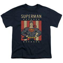 Superman Retro Liberty Youth T-shirt