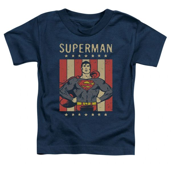 Superman Retro Liberty Toddler T-shirt