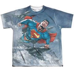 Superman In the Sky Youth T-shirt