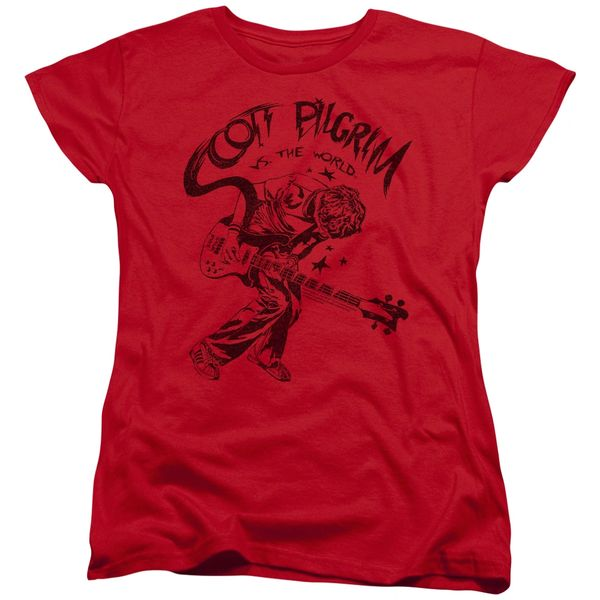 Scott Pilgrim vs The World Rockin Womens T-shirt