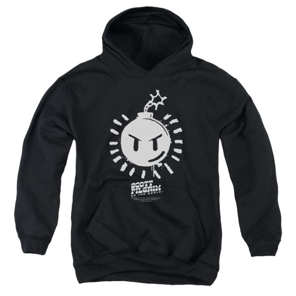 Scott Pilgrim vs The World Sex Bomb OMB Logo Youth Pull-Over Hoodie