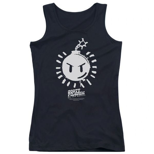 Scott Pilgrim vs The World Sex Bomb OMB Logo Junior Tank Top T-shirt
