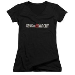 Sons of Anarchy Beat Up Logo Junior V-Neck T-shirt