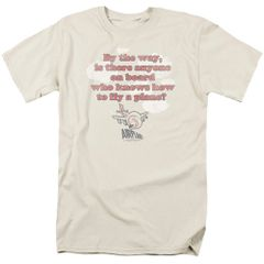 Aiplane Fly Cream Short Sleeve Adult T-shirt