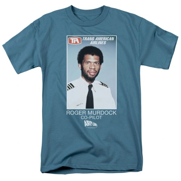 Airplane Roger Murdock Slate Short Sleeve Adult T-shirt