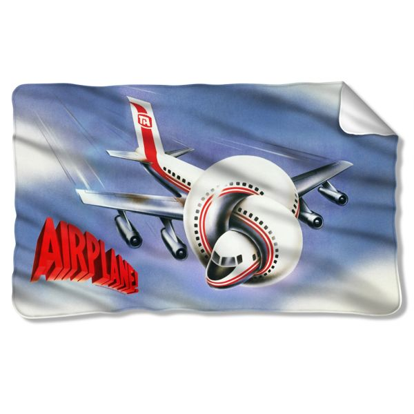 Airplane Postet Fleece Blanket