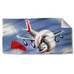 Airplane Postet Beach Towel
