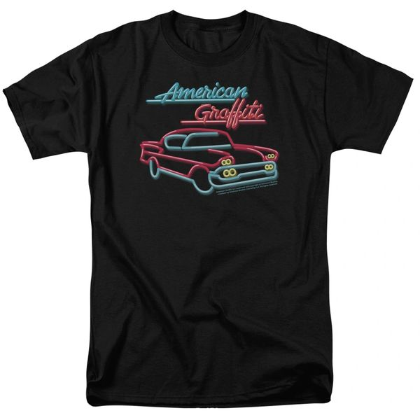 American Graffiti Neon Black Short Sleeve Adult T-shirt