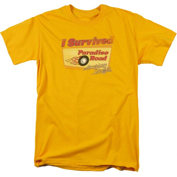 American Graffiti Paradise Road Gold Short Sleeve Adult T-shirt