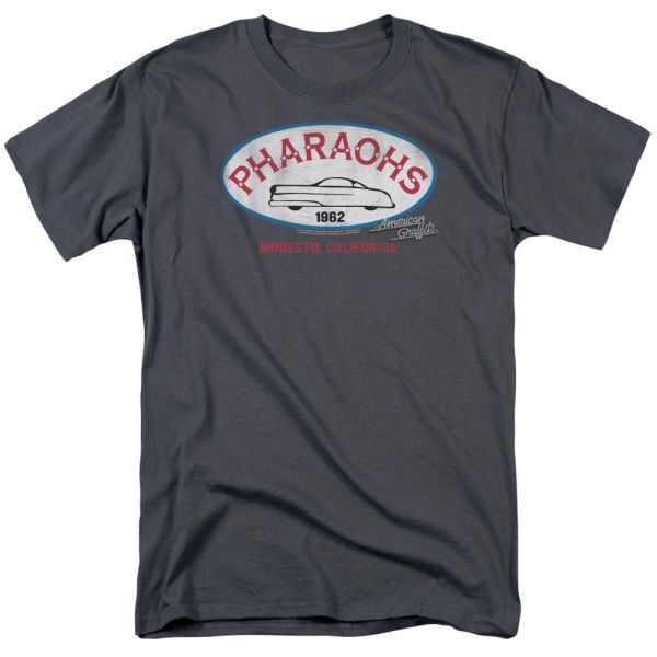American Graffiti Pharaohs Charcoal Short Sleeve Adult T-shirt