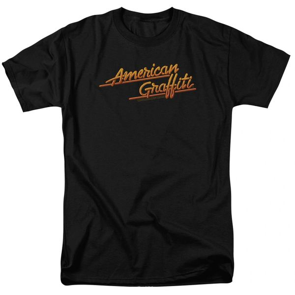 American Graffiti Neon Logo Black Short Sleeve Adult T-shirt