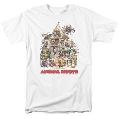 Animal House Poster Art White Short Sleeve Adult T-shirt