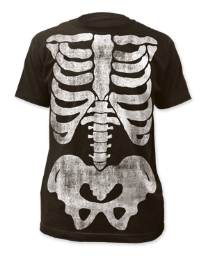 X-Ray Skeleton Black Short Sleeve T-shirt