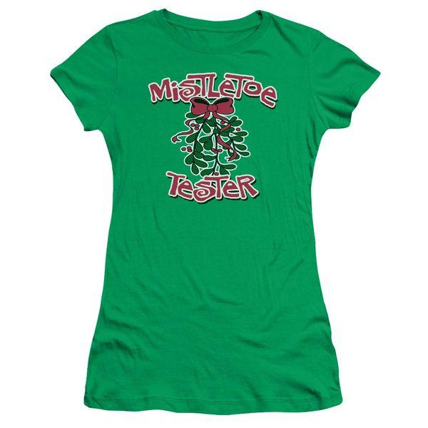 Christmas Mistletoe Tester Junior T-shirt