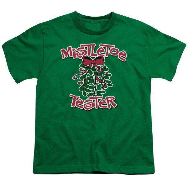 Christmas Mistletoe Tester Youth T-shirt