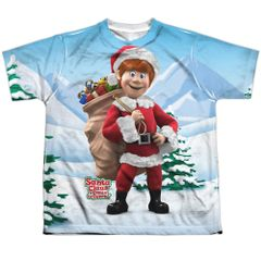 Christmas Santa Claus is Coming to Town Helpers Youth FB T-shirt