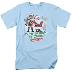 Christmas Santa Claus is Coming to Town Kringle to Claus T-shirt