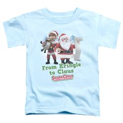 Christmas Santa Claus is Coming to Town Kringle to Claus Toddler T-shirt