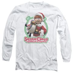 Christmas Santa Claus is Coming to Town Penguin Long Sleeve T-shirt