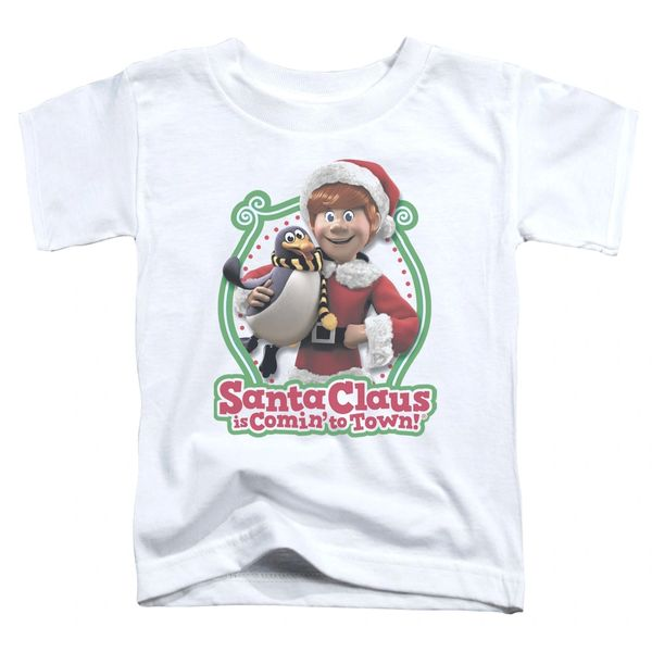 Christmas Santa Claus is Coming to Town Penguin Toddler T-shirt