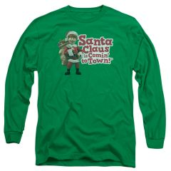 Christmas Santa Claus is Coming to Town Santa Logo Long Sleeve T-shirt