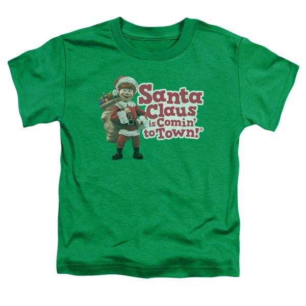 Christmas Santa Claus is Coming to Town Santa Logo Toddler T-shirt
